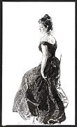 Black Evening Dress 1901 Print by Padre Art