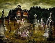Graveyard Digital Art Prints - Black Fly Print by Tom Straub