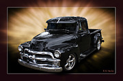 Chev Pickup Posters - Black Gold Poster by Keith Hawley