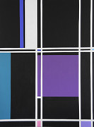 Grid Paintings - Black Grid by Ed Smith