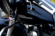 Harley Davidson Photo Originals - Black Harley by John Marois
