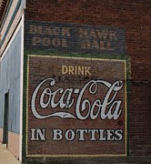Coca-cola Mural Prints - Black Hawk Pool Hall Drink Coca Cola In Bottles Print by Elizabeth Sullivan