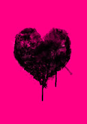 Viv Griffiths - Black Heart on Pink