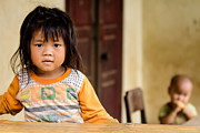 Child Framed Prints - Black Hmong Child Framed Print by Justin Albrecht