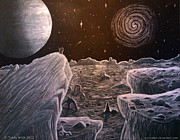 Surreal Landscape Drawings Originals - Black Hole Suicide by Travis Hunt