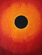Galactic Center Framed Prints - Black Hole Sun original painting Framed Print by Sol Luckman