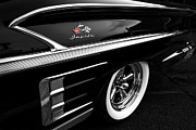 1958 Chevrolet Impala Framed Prints - Black Impala Framed Print by Dennis Hedberg
