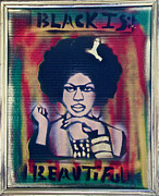 E Black Prints - Black is Beautiful RBG Print by Tony B Conscious