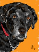 Black Lab Digital Art - Black Lab by Lois  Ivancin Tavaf