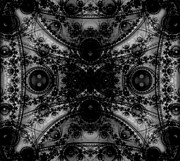 Puzzling Prints - Black Lace Print by Ester  Rogers