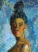 African-american Mixed Media Posters - Black Lady Poster by Janet Ashworth