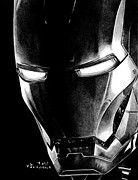Iron Drawings Posters - Black Led Avenger Poster by Kayleigh Semeniuk