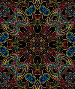 Kaleidoscope Art - Black Light 1 by Wendy J St Christopher