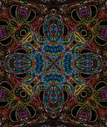 Kaleidoscopic Posters - Black Light 10 Poster by Wendy J St Christopher