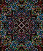 Kaleidoscope Art - Black Light 2 by Wendy J St Christopher