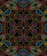 Kaleidoscopic Posters - Black Light 3 Poster by Wendy J St Christopher