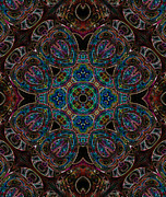 Kaleidoscopic Posters - Black Light 4 Poster by Wendy J St Christopher