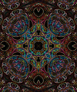 Kaleidoscopic Posters - Black Light 5 Poster by Wendy J St Christopher