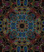 Kaleidoscopic Posters - Black Light 7 Poster by Wendy J St Christopher