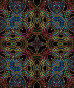 Kaleidoscopic Posters - Black Light 8 Poster by Wendy J St Christopher