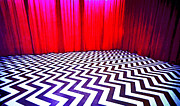 Dale Cooper Metal Prints - Black Lodge Blues Metal Print by Luis Ludzska