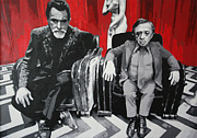 Serial Killer Painting Prints - Black Lodge Print by Ludzska