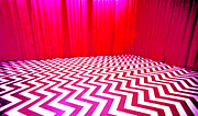 Fire Walk With Me Metal Prints - Black Lodge Magenta Metal Print by Luis Ludzska