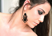 Silhouettes Jewelry - Black Long Geometric Earring by Rony Bank