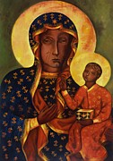 Black Madonna Paintings - Black Madonna of Czestochowa by Irek Szelag