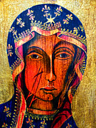 Queen Mary Painting Originals - Black Madonna of Czestochowa by Ryszard Sleczka