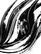 Black And White Abstract Art - Black Magic 302 by Sharon Cummings by Sharon Cummings