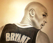 Kobe Bryant Drawings Prints - Black Mamba Print by Araceli Rizo