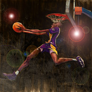 Lakers Digital Art Framed Prints - Black Mamba Framed Print by Jumaane Sorrells-Adewale