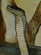 Reptiles Painting Prints - Black Mamba Print by Tracey Snyman