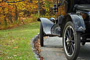 Fall Photographs Prints - Black Model A on Blue Ridge Parkway Print by Bruce Gourley