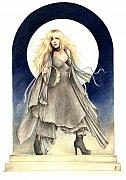 Stevie Nicks Framed Prints - Black Moons Framed Print by Johanna Pieterman