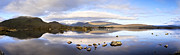 Rannoch Photo Prints - Black Mount Panorama Print by Colin and Linda McKie