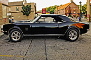 1968 Camaro Photos - Black Muscle by Steve Harrington