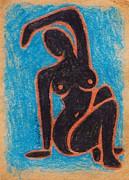 Black Nude Print by Joseph Sonday