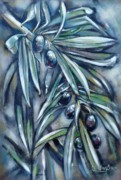 Olives Originals - Black Olive Branch 200210 by Selena Boron