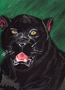 Panthers Painting Prints - Black Panther Print by Robert Garris