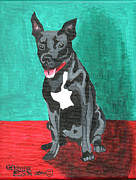 Genevieve Esson - Black Pit Bull Terrier