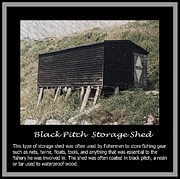 Old Fishing Gear Framed Prints - Black Pitch Storage Shed Framed Print by Barbara Griffin