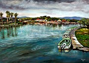 Jamaican Art Paintings - Black River 1 by Ewan  McAnuff