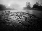 Fog Art - Black river by Davorin Mance