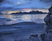 The Heavens Paintings - Black rock by Jane Autry
