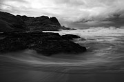 Fleurieu Peninsula Prints - Black Rock  Swirl Print by Mike  Dawson