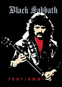 Rock Guitar Player Posters - Black Sabbath No.02 Poster by Caio Caldas