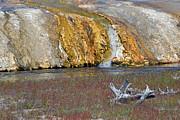 Black Sand Basin Runoff Yellowstone Print by Bruce Gourley