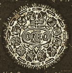 Oreos Prints - Black Sepia Oreo Print by Rob Hans